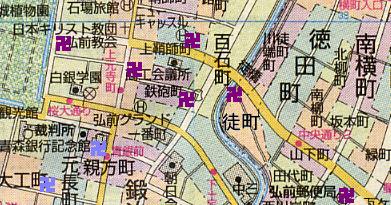 弘前の町名標柱 鞘師町